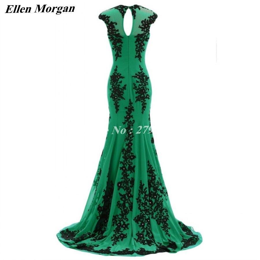 Green Mermaid Evening Dresses 2018 Cap Sleeve Special Occasion - Särskilda tillfällen klänningar - Foto 5
