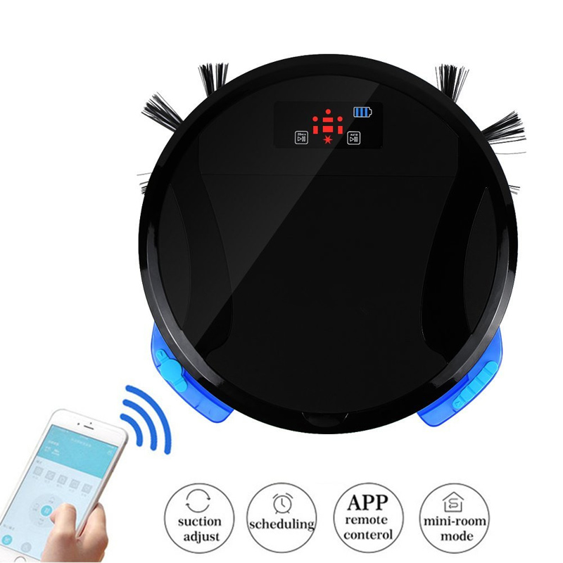 купить WiFi Smart Robot Vacuum Cleaner floor Washing 280ML Water Tank and 700ML dustbin Wet Mop FM01C Vacuum Cleaner for home Cleaning. онлайн