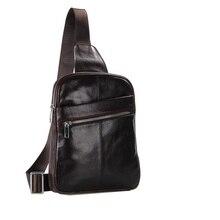 2016 New Arrival 100% Men's Fashion Leather Bag Sling Bag Shoulder Messenger Bag Chest Pack Handbags 7217