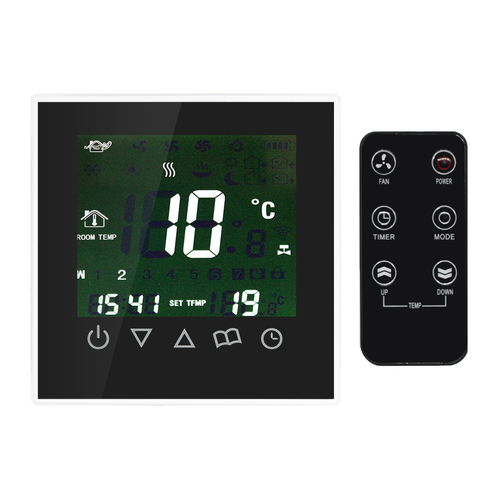 Programmable thermostat Room Temperature Controller with heating sensor radio control LCD Touch Screen water Heating Weekly