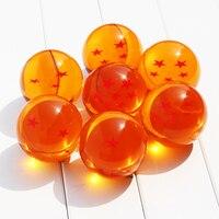 Dragon Ball 7CM 7 Stars Crystal Balls Dragonball Ball PVC Action Figure Toy High Qutaily 7pcs