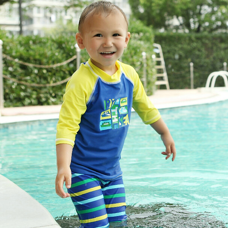 Matching swimwear for big guys and their little nippers! Our super-soft, UV-protected swimwear is fun and fresh, and appeals to juniors and adults alike. It is beautifully crafted and we use bold colours and graphic motifs to create designs that always look and feel distinctly Tom & Teddy.