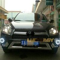Car Styling Daytime Running Light for Toyota RAV4 LED DRL 2012 2013 RAV4 LED Fog Light Front Lamp Automotive accessories