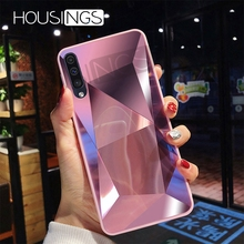 Luxury Diamond Texture Mirror Case For Samsung Galaxy S7 S8 S9 S10 Plus TPU Soft Candy J A Series Note 8