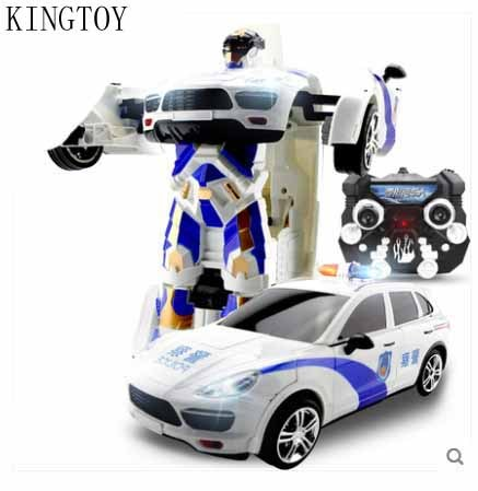 Rc Car Remote Control Deformed Robot Flash Changeable Robot Toy In