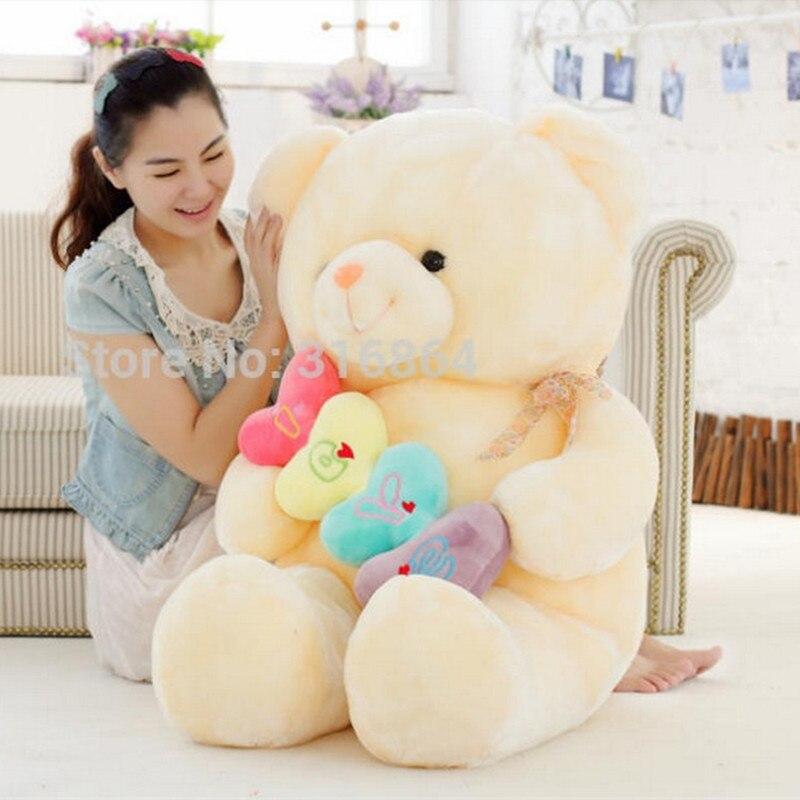70cm Colorful Bear Plush Toy Teddy Bear Soft Stuffed Toy Teddy Bear Soft Doll Factory Supply