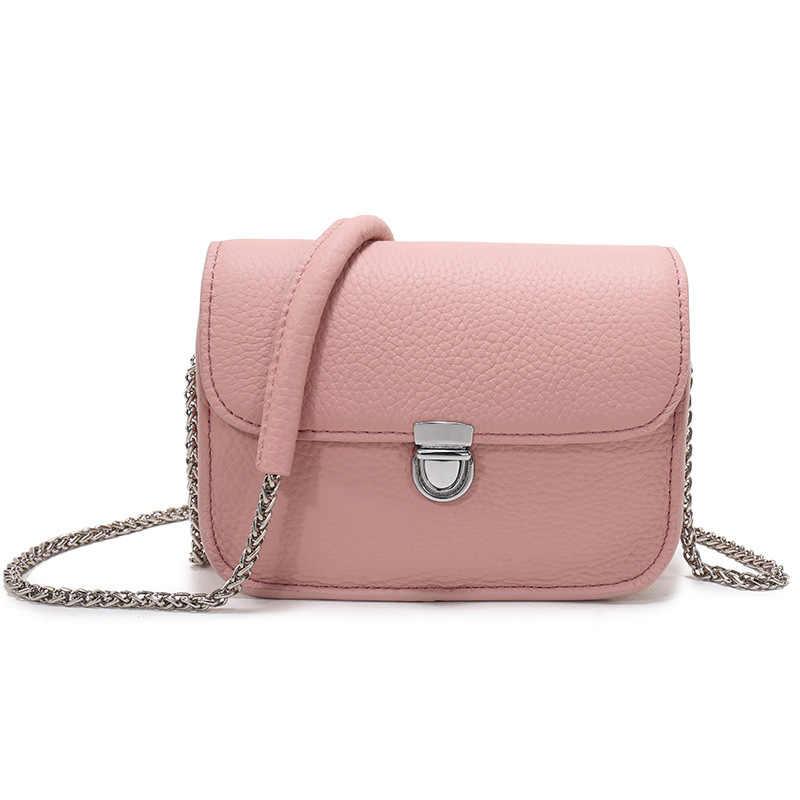 d7bf6578fe52 Bestbaoli Модные маленькие сумки из натуральной кожи для женщин Высокое  качество Личи шаблон мягкая сумка женский