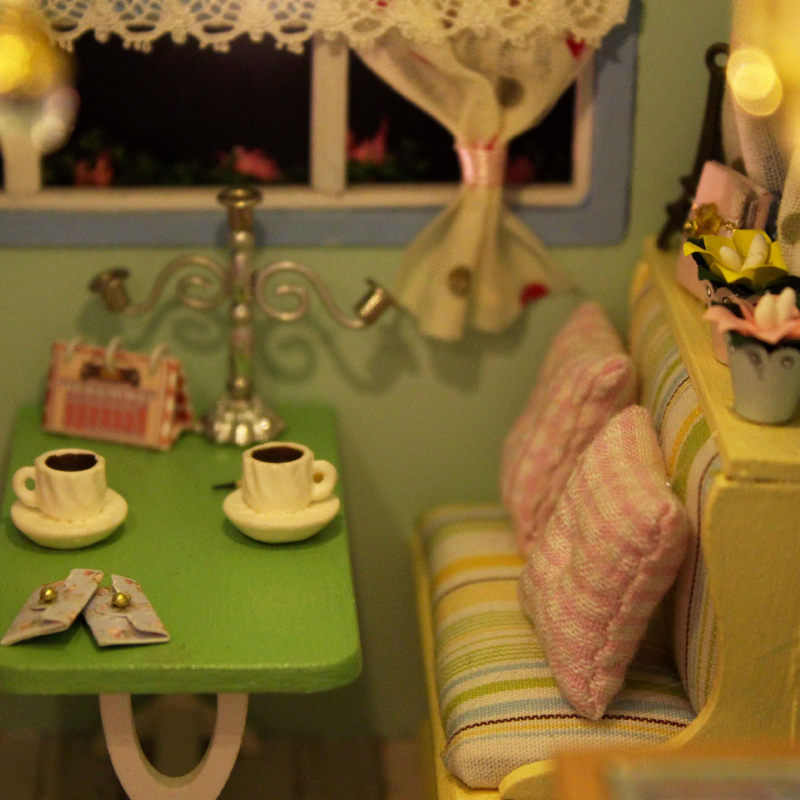 Cute Room Doll House Miniature DIY Dollhouse With Furnitures Wooden Handmade Puzzle Toys TIME TRAVEL Gift For Kids A016 #E