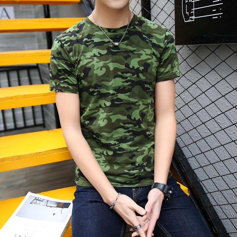 Top Tees for Men Camouflage T Shirt Men Fashion Short Sleeve Cotton T Shirt Male Jogge T Shirt Mans Plus Size M-5XL Homme AQ0404