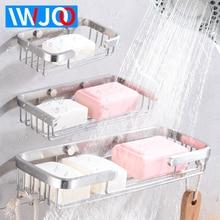 Soap Dish Storage Holder Wall Mounted Bthroom Soap Holder Shower Stainless Steel Cosmetic Shampoo Shelf Soap Rack Corner Basket стоимость