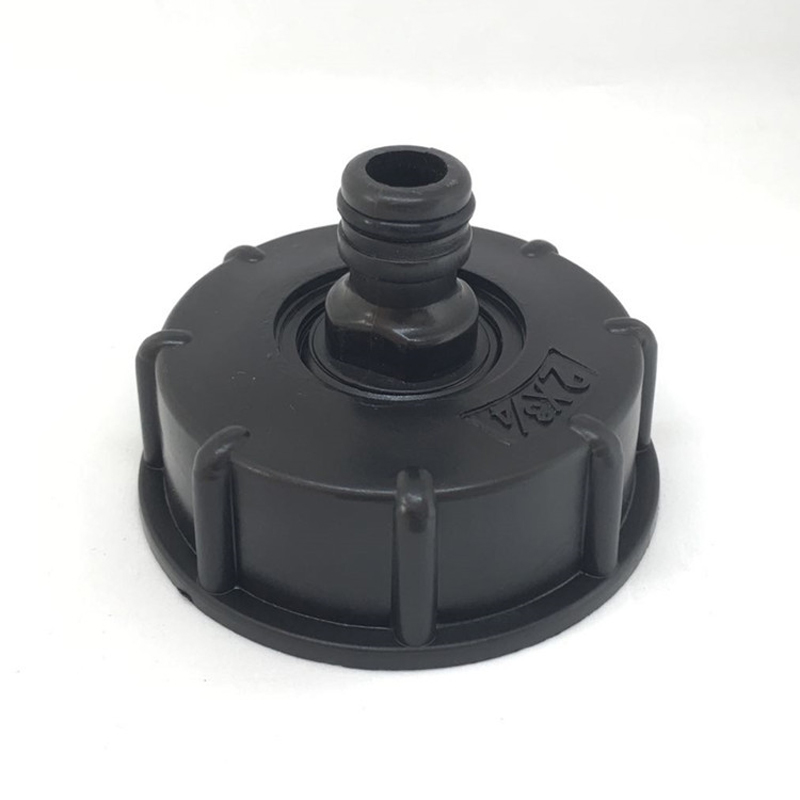 Garden Water Ball Valve For IBC Container S60X6 Adapter Plant Water Tap Cap With Male Thread Hose Connection in Garden Water Connectors from Home Garden
