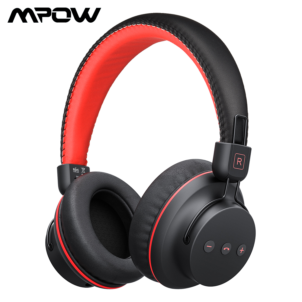Mpow H1 Wireless Bluetooth Headphones With Mic Soft Ear Pads Noise Canceling Headset Earphone Hands-Free Call For iOS Android TV hot h05 bluetooth earphone leather business style hands free stereo headset fashion headphone with mic a2dp for android ios