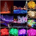 10M 80 LED Battery Operated LED String Lights for Xmas Garland Party Wedding Decoration Christmas Light Flasher Fairy Lights