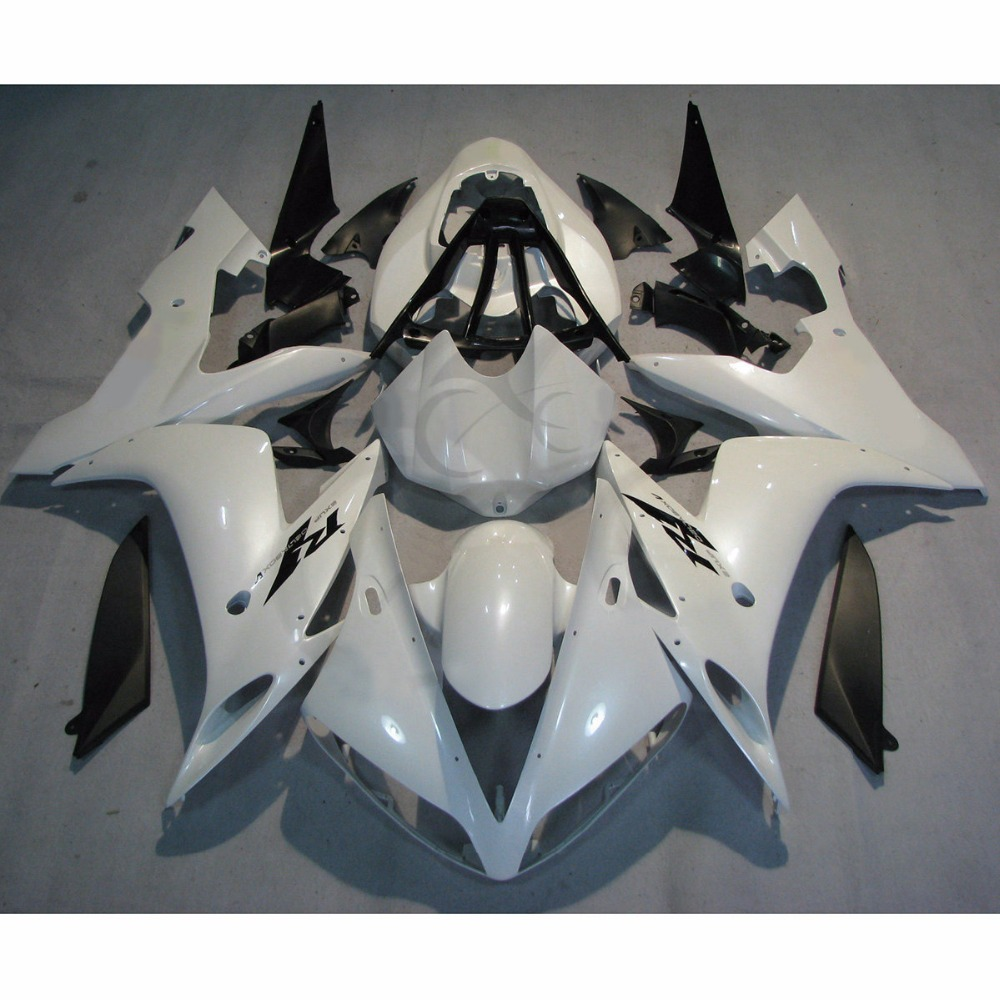 Инъекции Формованных обтекатель кузова подходит для Ямаха YZF R1 и YZF-Р1 04-06 05 Белый
