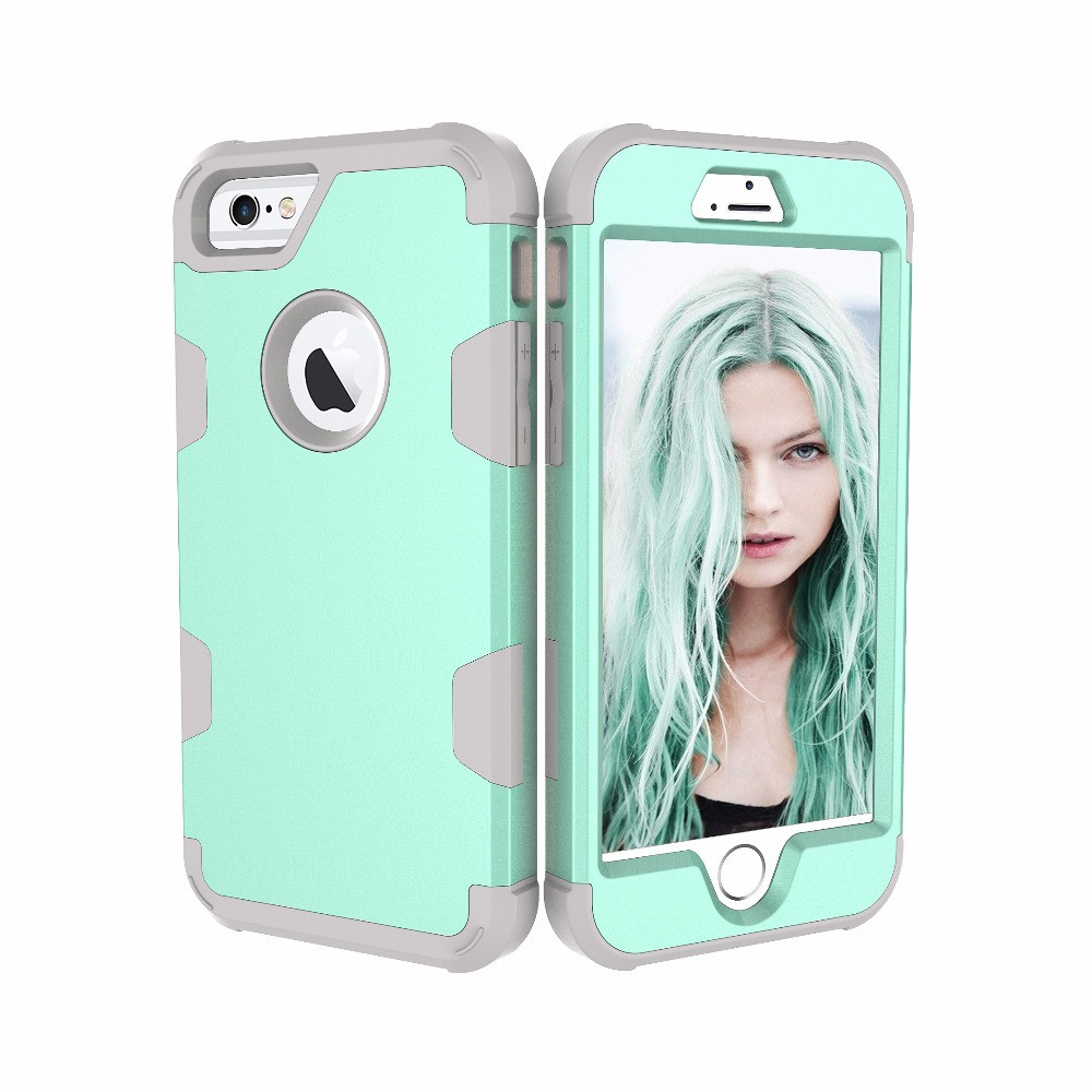 Shockproof Phone Cases for iPhone7plus Shock Resistant Protective Cases Contrast Color Protect Case for iPhone7plus