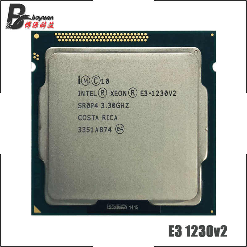 Intel Xeon E3-1230 V2 E3 1230v2 E3 1230 V2 3.3 GHz Quad-Core Processor 8M 69W LGA 1155