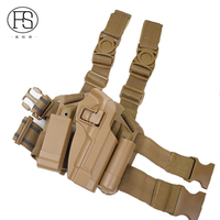 BlackHawk CQC Beretta Holster Magazine Pouch Leg Gun Holster For Beretta 92 96 Sand Color And