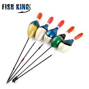 FISH KING 5Pcs/Lot Fishing Floats Set Buoy Bobber Floats Fluctuate Fishing Stick Mix Size Color For Fishing Accessories