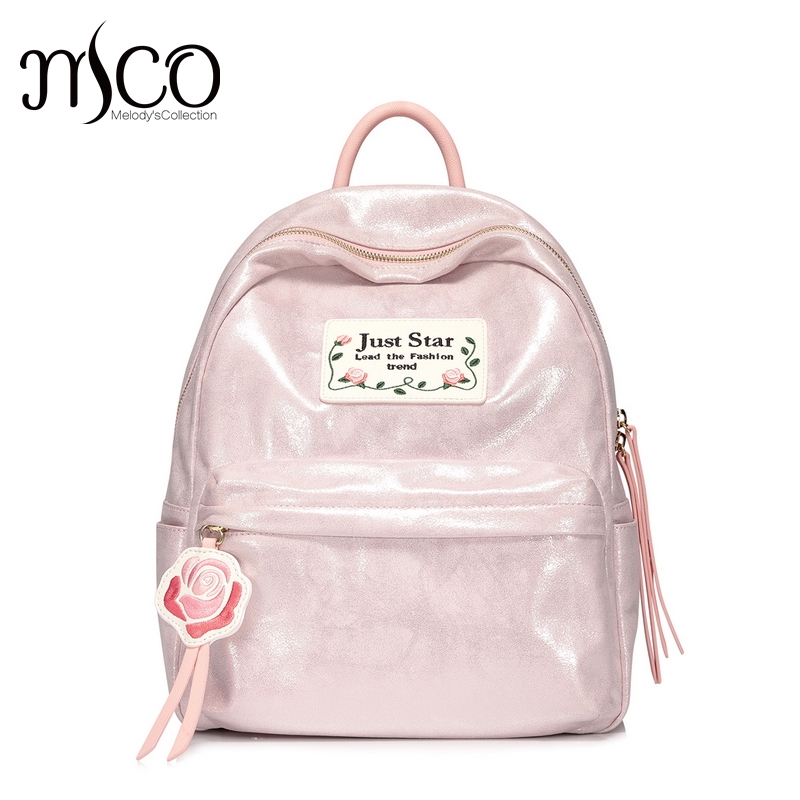 Brand Flower Embroidery Simple Naloy Soft Backpack Students School Bag Women Girl Rucksack Mochila Escolar Women PINK Backpack elsie mochrie simple embroidery
