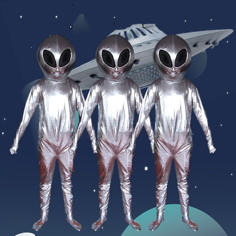 Mascotte extraterrestre Costume Halloween noël carnaval fantaisie Costume Cosplay Mascotte