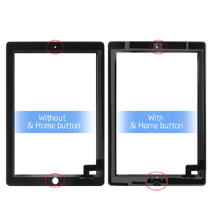 """Image 2 - 9.7 """"digitizer עבור iPad 2 מגע iPad2 A1395 A1396 A1397 מגע מסך Digitizer חיישן זכוכית פנל משלוח מסגרת לוח + לחצן בית"""