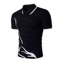Summer Casual Men Polo Shirt Brand Short Sleeve Men's Slim Fit Polo Shirt Cotton Print Homme Turn Down Collar Tees стоимость