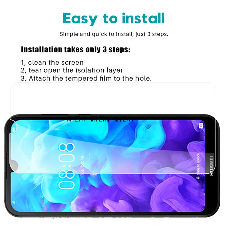 Image 2 - Original Glass For huawei y5 2019 Screen Protector Protective Glas on AMN LX1 AMN LX1 5Y Y 5 2019 Y52019 Safety film 2.5d-in Phone Screen Protectors from Cellphones & Telecommunications