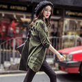 2017 Sprirng Cardigan Women Blouse Harajuku Letter Print Loose Boyfriend Shirt Army Green Thin Outwear Big Size Casual Women Top