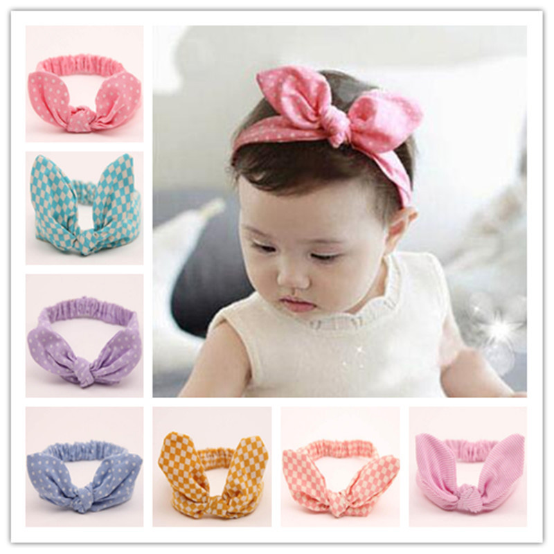 Cute Baby Hair Band Rabbit Ears Headband Kids Girls Bow Style Hairbands Knot Parent-child Fashion Headwear Bebe Hair Accessories