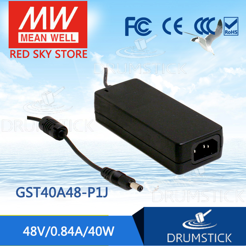 Hot sale MEAN WELL GST40A48-P1J 48V 0.84A meanwell GST40A 48V 46W AC-DC High Reliability Industrial AdaptorHot sale MEAN WELL GST40A48-P1J 48V 0.84A meanwell GST40A 48V 46W AC-DC High Reliability Industrial Adaptor