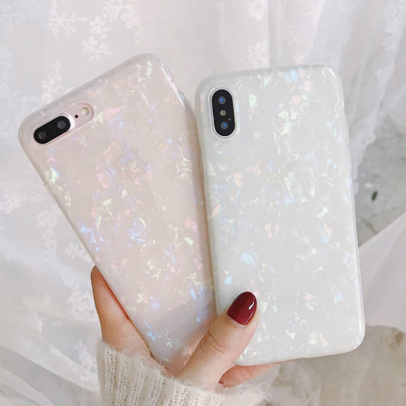 on sale f1e8b 0b32d Luxury Glitter Phone Iphone 7 8 Plus Dream Shell Pattern Cases For Iphone X  8 7 6 6S Plus Soft TPU Silicone Back Cover