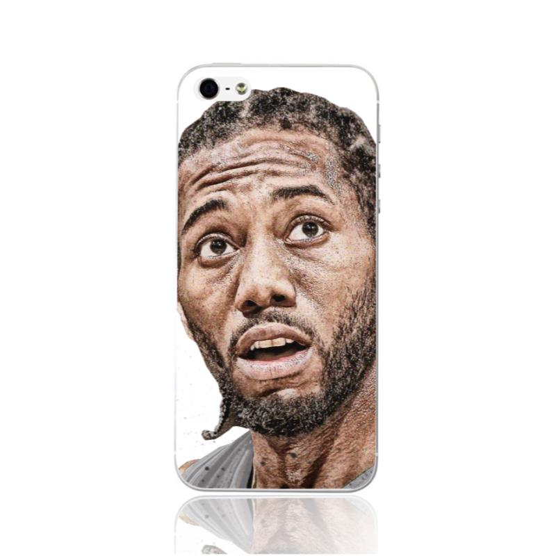 hot sale online 522c8 4df1c BZWGL Kawhi Leonard phone case for iphone 5 5s 6 6s 7 7 8 plus 7plus 6plus  soft TPU Transparent case-in Fitted Cases from Cellphones & ...