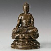 Изделия из бронзы atlie статуя Будды Шакьямуни скульптура буддийский храм украшения дома подарки