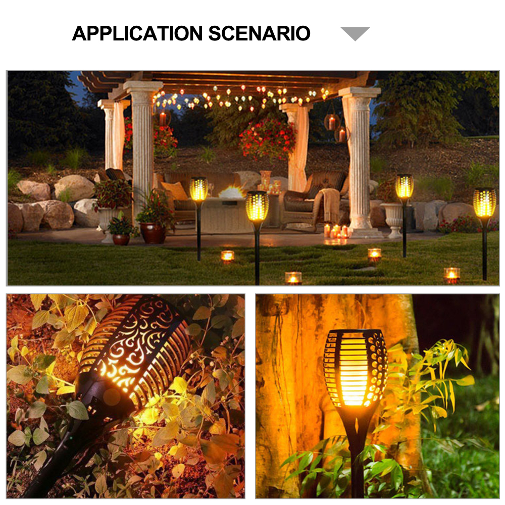 Led Lawn Lamps Garden Light 96 Led Solar Lawn Lamps Garden Lights Outdoor Landscape Hanging Lamp Fire Induction Wall Lights Non-Ironing Lights & Lighting