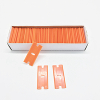 500pcs Double Edged Razor Blades For Razor Scraper Glass Car Cleaning Squeegee Vinyl Film Car Wap Sticker Glue Remover Wholesale