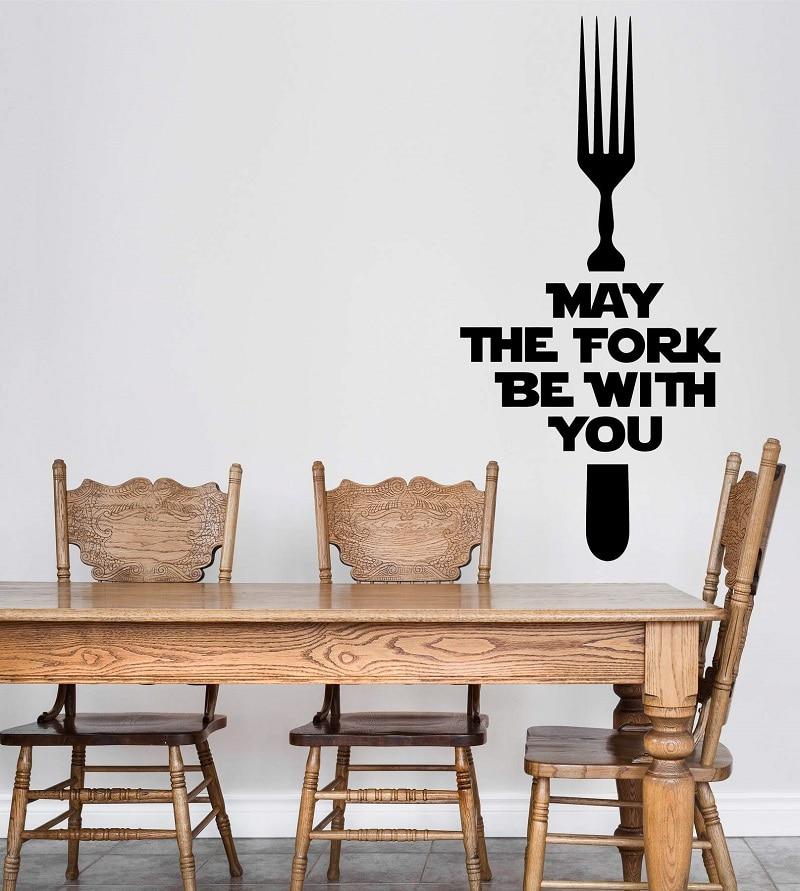 Кухня стена бара ресторана Виниловая аппликация декоративные обои с рисунком 2WS36-in Настенные наклейки from Дом и животные