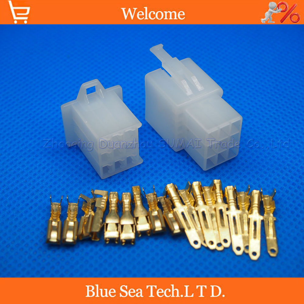 2.8mm 9 Way/pin DJ7091A-2.8-11/-21 Electrical Connector Kits Male Female socket plug for Motorcycle Car ect.
