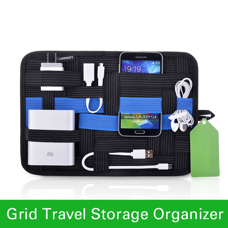 Bigital device organizer travel storage bag for iPhone tablet mobile phone USB cable earphone charger power bank