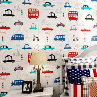 Cartoon Cars Papel De Parede Infantil Wallpaper For Boys Kids Room Mural Child Para Sala Boys