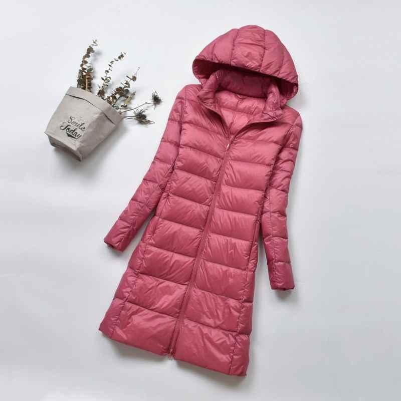 Fitaylor, зимний теплый пуховик для женщин, ультра-светильник, 90% белый утиный пух, Женская куртка с капюшоном, парка размера плюс 4XL, женские куртки