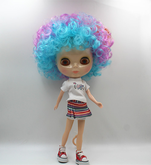 Blyth doll Brown, pink and blue, explosive hair, nude doll, normal body, 1/6,7 joints, gift toys, can be changed.