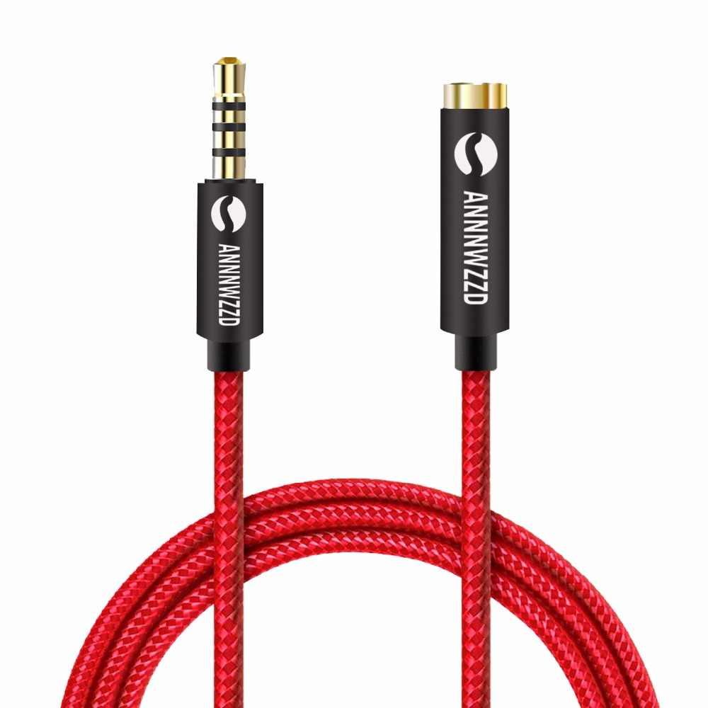 Przedłużacz kabla aux wtyczka do kabla audio 3.5mm męski na żeński Stereo do telefonów, słuchawek, głośników, odtwarzaczy MP3