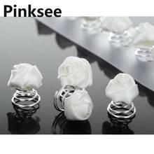 24pcs New Elegant Rose Garden White Silk Flowers Hair Pin Bridal Wedding Accessories[JH01050]