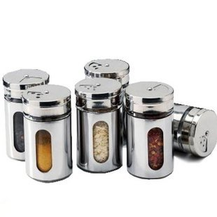 FREE SHIPPING Kitchen Condiment Container,glass Liner Of Stainless Steel  Skin Durable Cruet U042