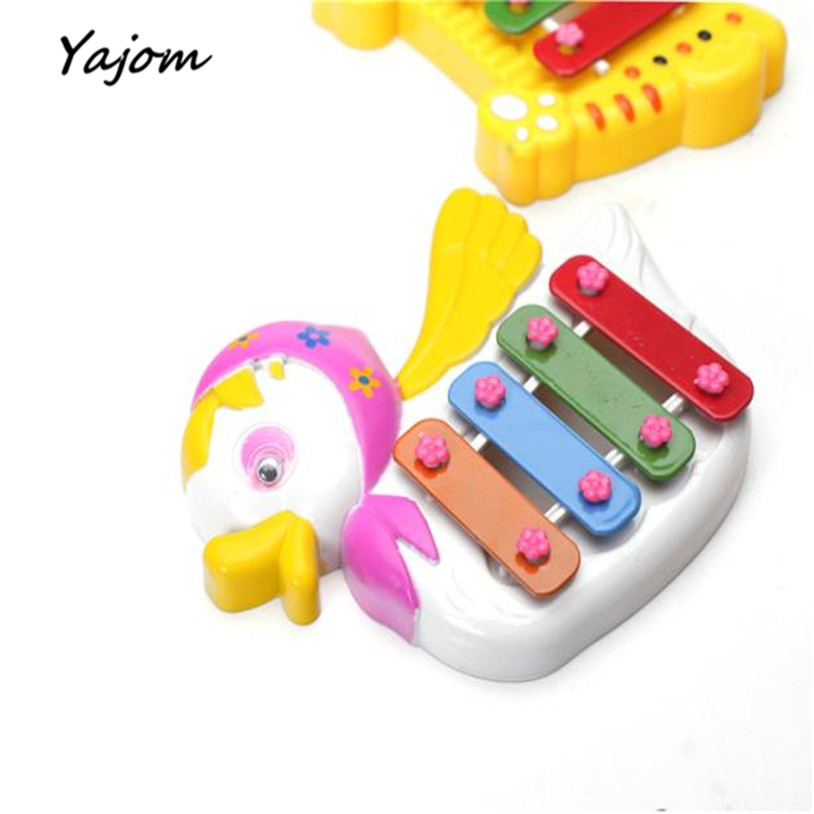 2017 New Kids Baby Musical Educational Animal Developmental Music Bell Toy 4 Tone Brand New High Quality Apr 10