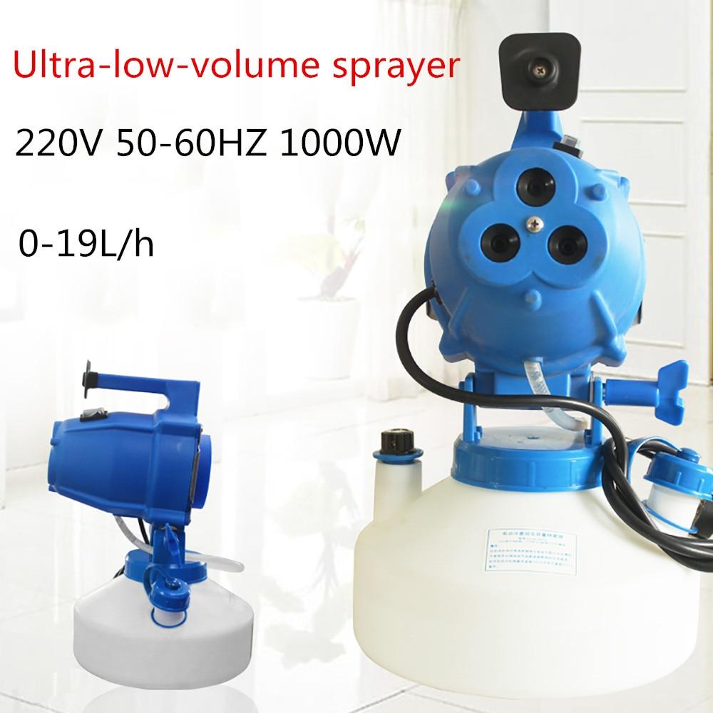 220V Electric Cold Fog Ultra Low Volume Sprayer ULV 3-hole Insecticidal Air Sterilizer Epidemic Aerosol Atomizer 1000W 4L Y