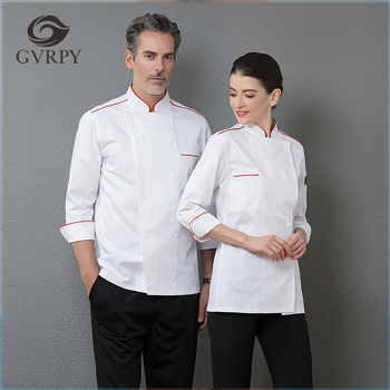 High Quality White Top Chef Restaurant Kitchen Long Sleeve Work Jacket Men Cooking Wear Double Breasted Cozinha Uniform Clothing free shipping work wear set male tooling uniform customize lf 102 long sleeve mechanic jacket and engineer jacket page 2