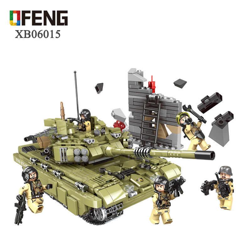 WW2 Army series Military Tank sets building blocks Tiger Tank Truck Figure Bricks compatible legoed  children Boy toys gifts