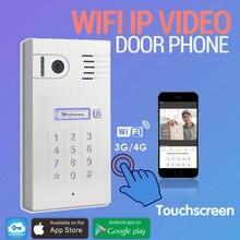 3 Г/4 Г Беспроводной Wi-Fi Сенсорный Экран Видео-телефон двери дверной звонок Ip-камеры Домофон Поддержка IOS Android для Смарт-Phone Tablet