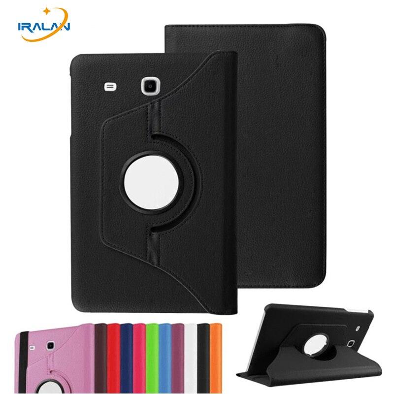 För Galaxy Tab A 7.0 Smart 360 Rotating Litchi PU Läderfodral För Samsung Galaxy Tab En 7,0 T280 T280N T285 Tablet 3 i 1